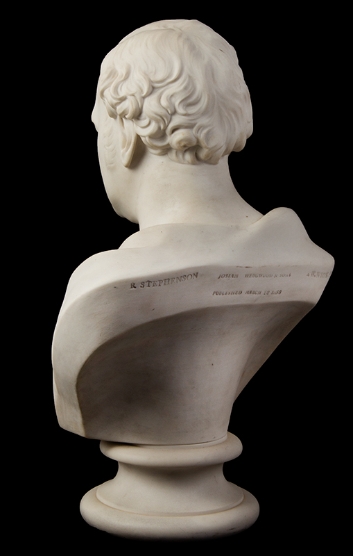 Parian Style Wedgewood Bust of Robert Stephenson After Edward William Wyon), Mid-19th Century, entire view 5
