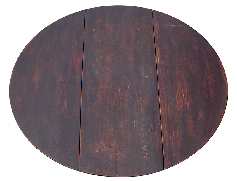 Period Queen Anne Country Drop Leaf Table, Original Dark Surface, top view