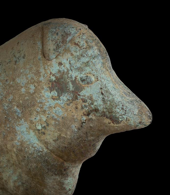 Antique, Sheep Weathervane on Arrow, Historic Surface, head detail