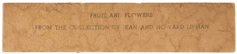 Fruit and Flowers, Folk Art Composition, Water Colored Print After Wealthy O. Swain Owned by Jean Lipman, detail view 2