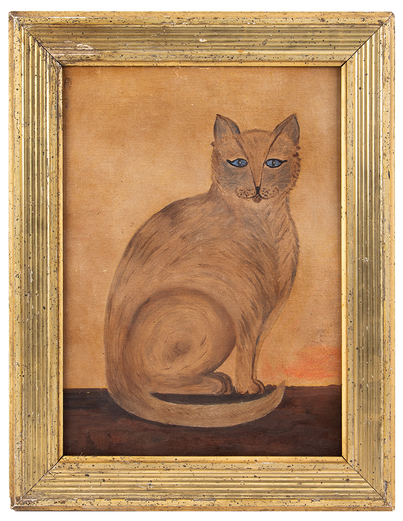 Painting, Folk Art Cat, entire view