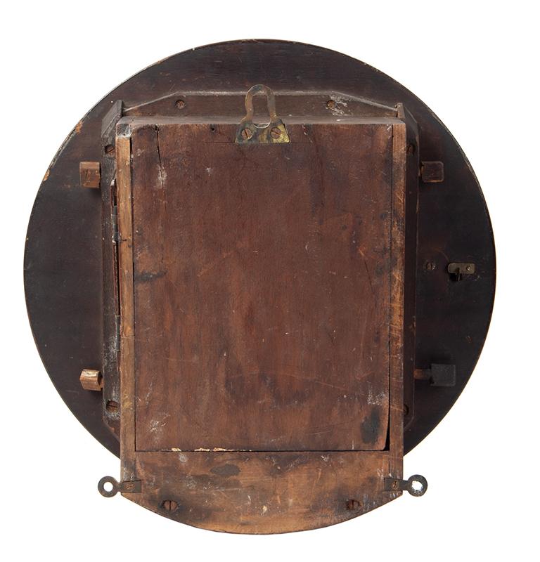 Wall Clock, W.J. Carroll, London, Fusse Movement by James Elliott, back view