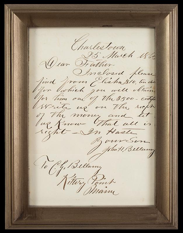 John Bellamy, Masonic Folding Wall Shelf, Carved & Pierced Masonic Imagery, letter detail