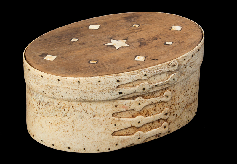 Ditty Box, Sailor Made, Pan Bone, 5-Shaped Fingers, Inlayed Top, entire view 4