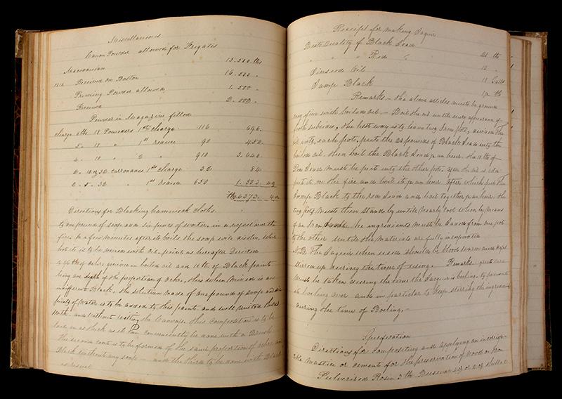 Nineteenth Century American Midshipman's Workbook, USS Java, Frigate Mediterranean Squadron Voyage, Anonymous Author, entire view