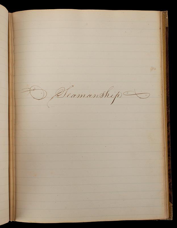 Nineteenth Century American Midshipman's Workbook, USS Java, Frigate Mediterranean Squadron Voyage, Anonymous Author, entire view 5