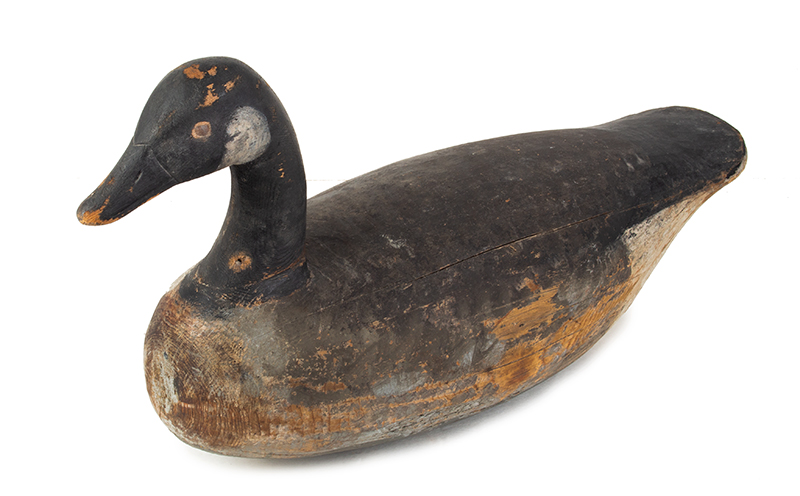 Canada Goose Decoy, Carved and Painted by Ira Hudson, Chincoteague, Virginia Ira Hudson (1873-1949), entire view 2