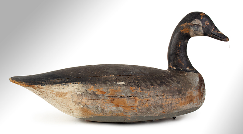 Canada Goose Decoy, Carved and Painted by Ira Hudson, Chincoteague, Virginia Ira Hudson (1873-1949), entire view 4