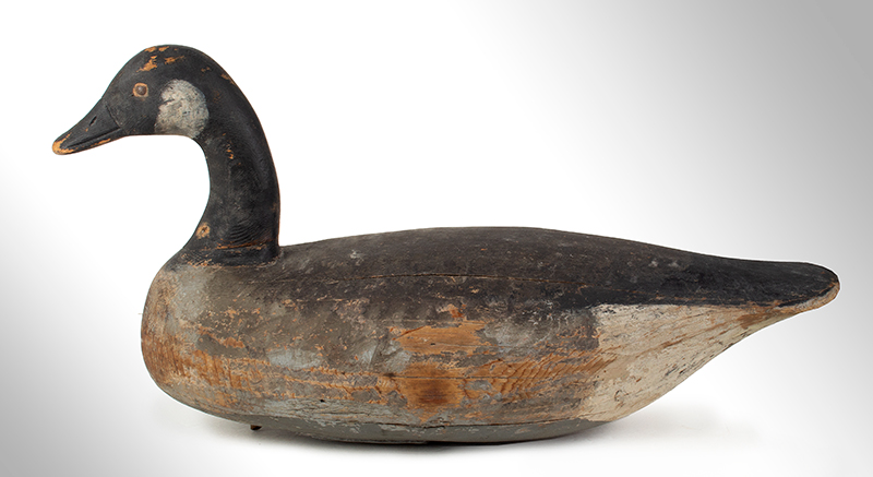 Canada Goose Decoy, Carved and Painted by Ira Hudson, Chincoteague, Virginia Ira Hudson (1873-1949), entire view 5