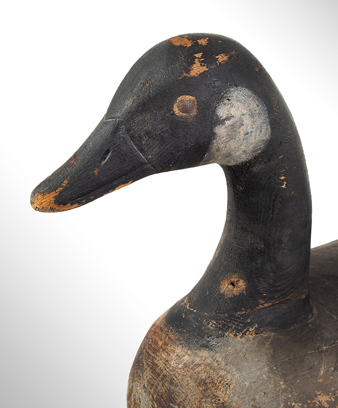 Canada Goose Decoy, Carved and Painted by Ira Hudson, Chincoteague, Virginia Ira Hudson (1873-1949), head view