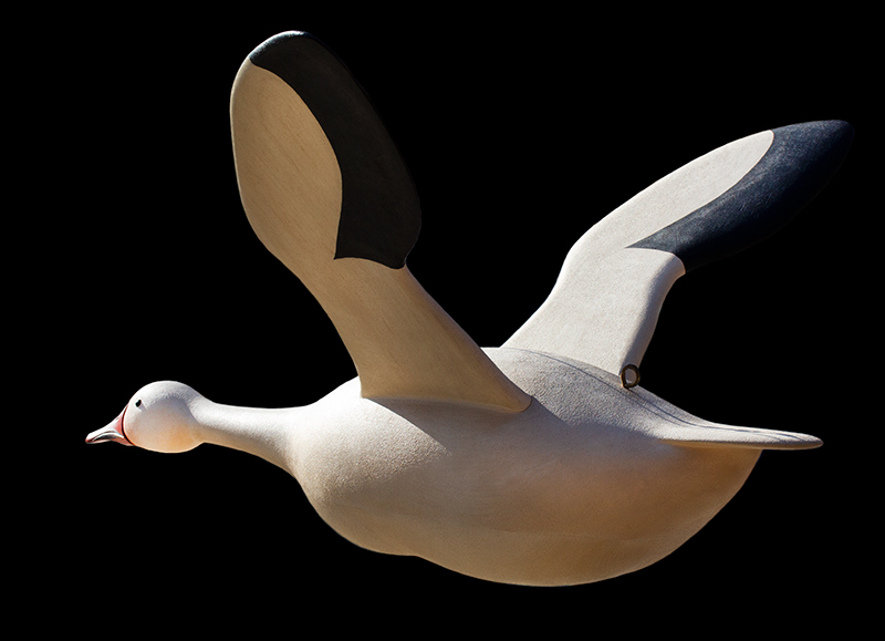 Folk Art, Carved and Painted Snow Goose by Gary Avadanian Reading, Massachusetts, entire view 8