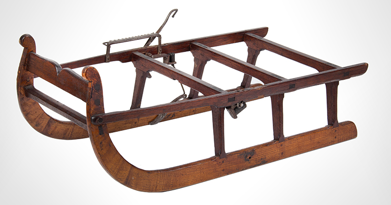 Patent or Salesman's Cased Model, Sled with Brake & Documents, entire view 3