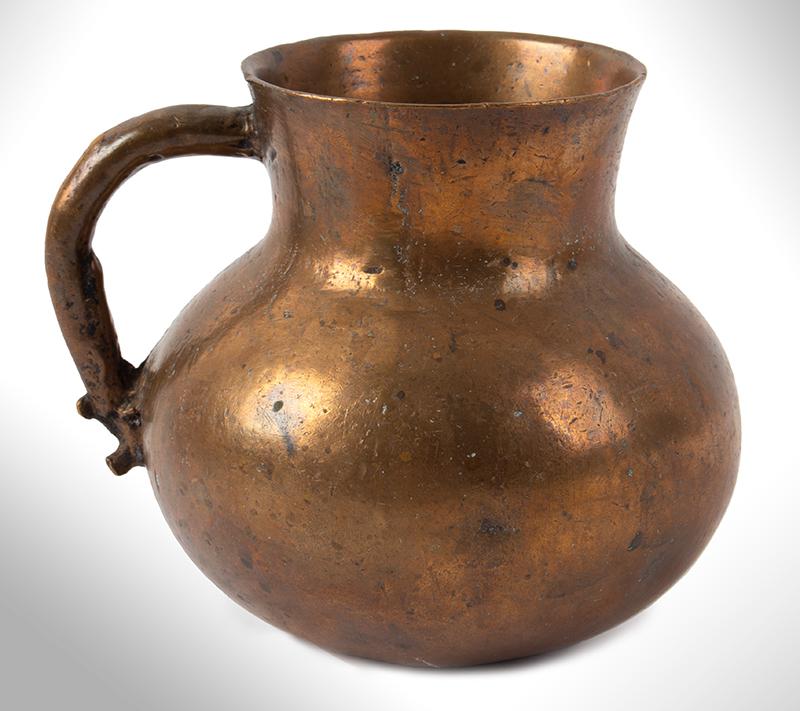 Medieval Measure, Mug, Bronze, Bulbous Form, entire view 1