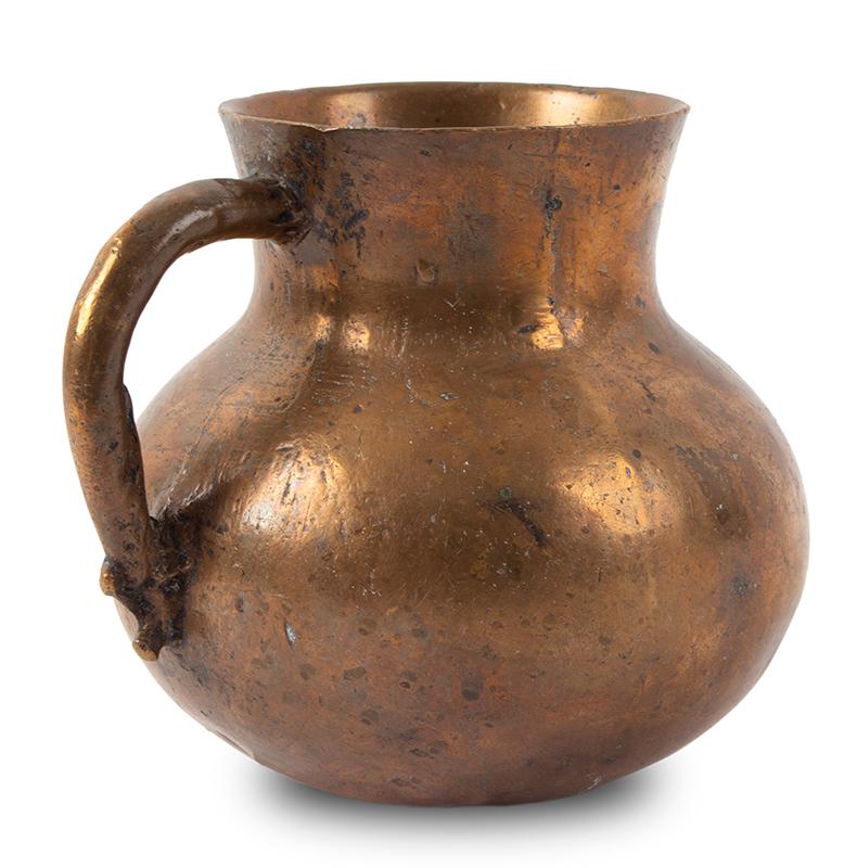 Medieval Measure, Mug, Bronze, Bulbous Form, entire view 2
