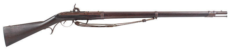 U.S. Harpers Ferry Model 1819 Hall Percussion Conversion Breechloading Rifle, right facing