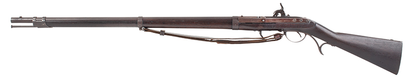 U.S. Harpers Ferry Model 1819 Hall Percussion Conversion Breechloading Rifle, left facing
