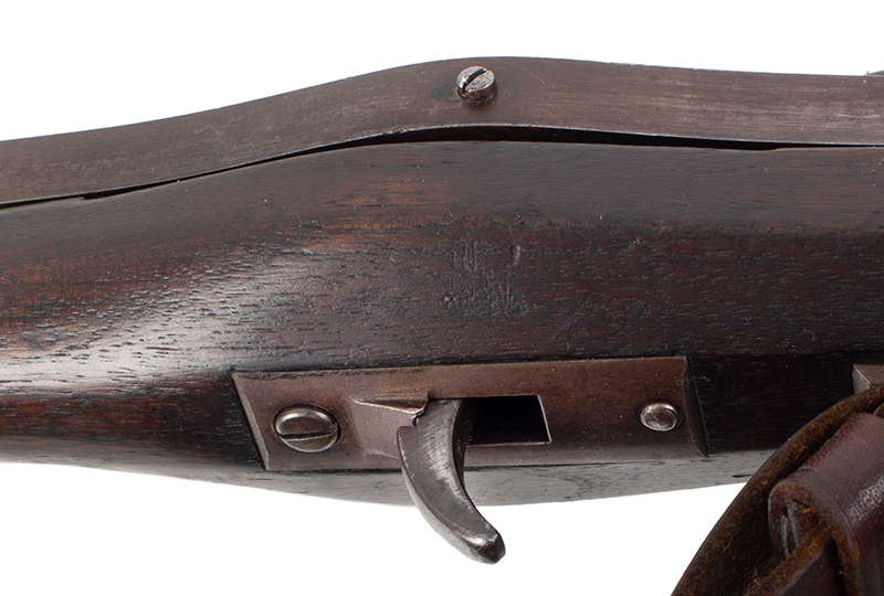 U.S. Harpers Ferry Model 1819 Hall Percussion Conversion Breechloading Rifle, detail view 3