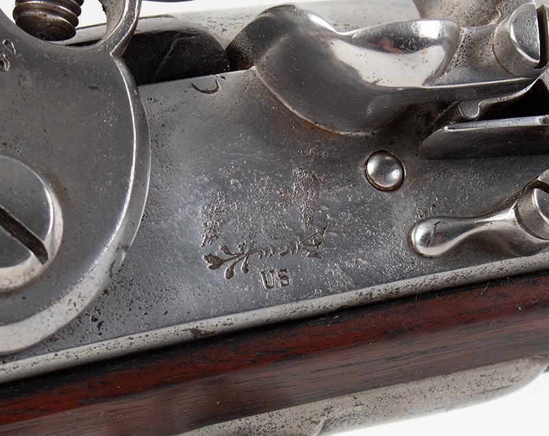 Model 1795 Harpers Ferry Flintlock Musket Dated 1817, Type IV, lock plate detail 2