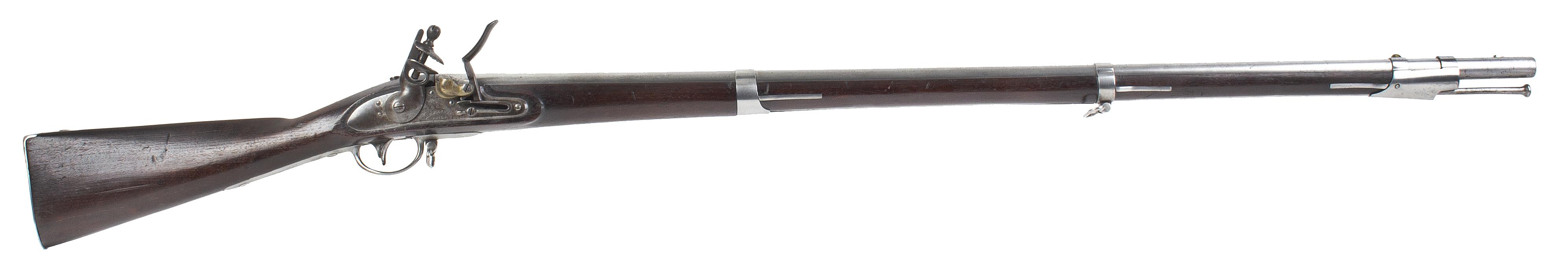 US Model 1816 Musket, Type I by M.T. Wickham of Philadelphia, & Bayonet, right facing