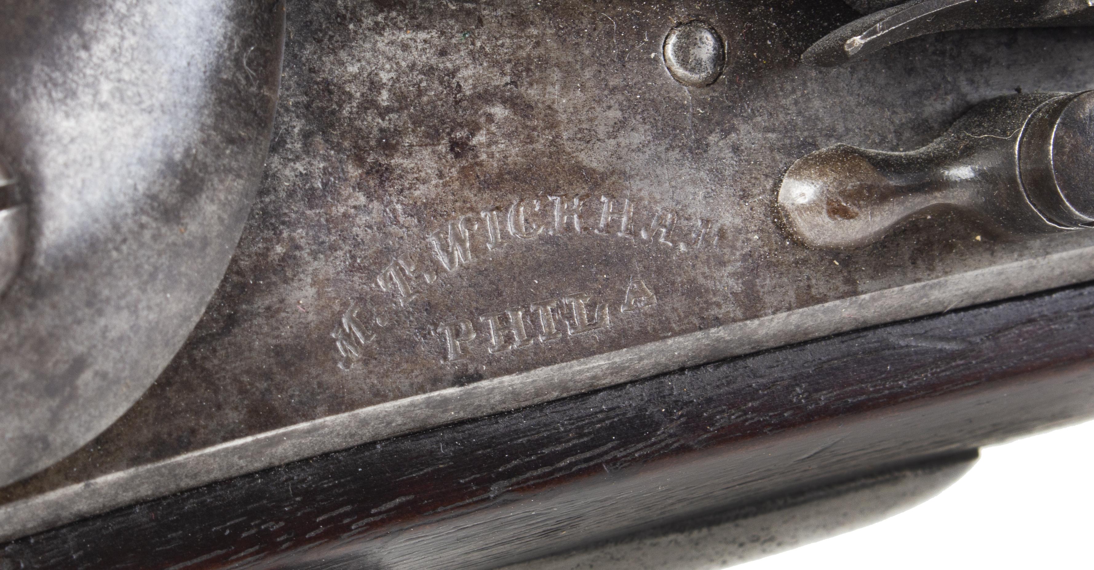 US Model 1816 Musket, Type I by M.T. Wickham of Philadelphia, & Bayonet, address