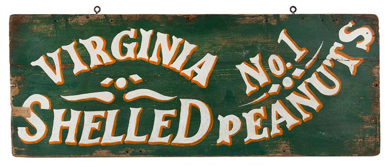 Trade Sign, VIRGINA SHELLED PENUTS No.1, entire view