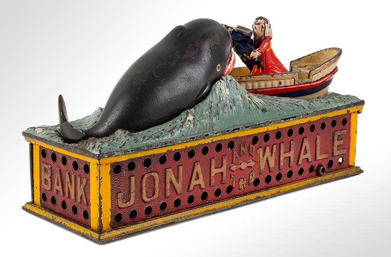 Mechanical bank, Jonah, & the Whale, Shepard Hardware Company, Buffalo, NY, entire view 4