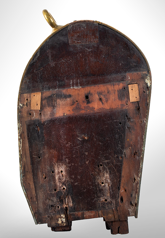 John Haley Bellamy, Carved Mahogany Gangway Board, USS Enterprise A Rare Woodcarving Executed by Bellamy [1836-1914] for the US Navy, back view