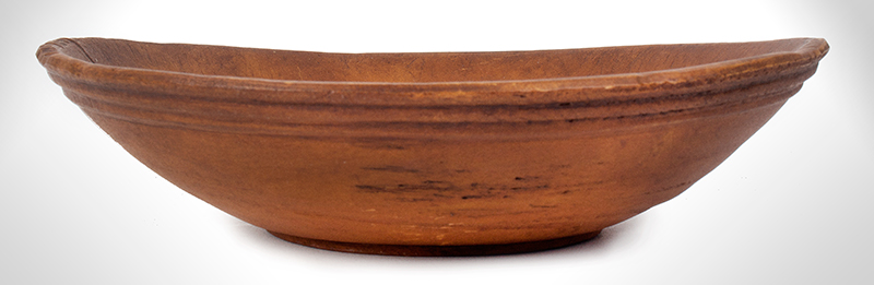 Antique Treen Bowl, Turned, entire view 1