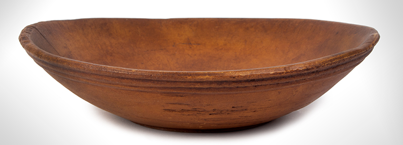 Antique Treen Bowl, Turned, entire view 2