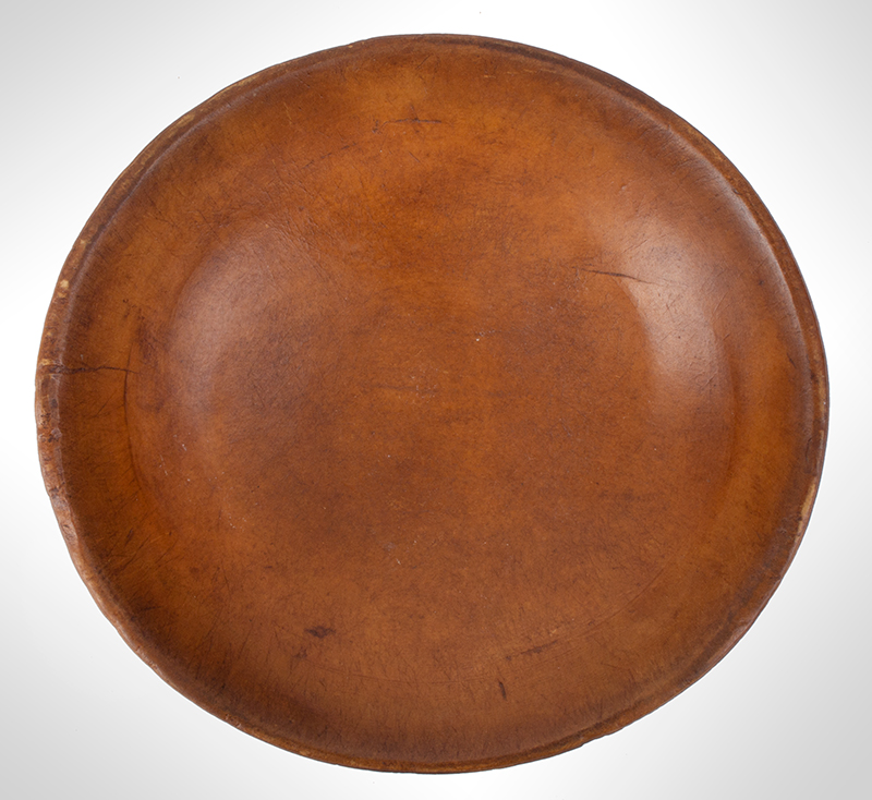 Antique Treen Bowl, Turned, interior view