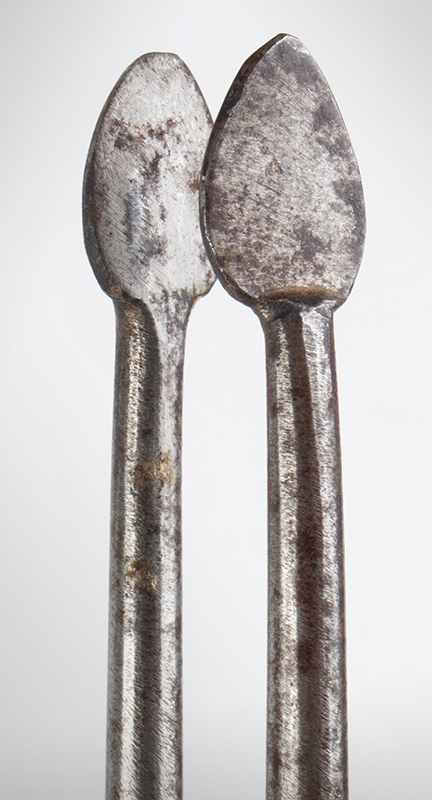 18th Century Pipe Tongs – Ember Tongs with Tamper, File Work, detail view 2