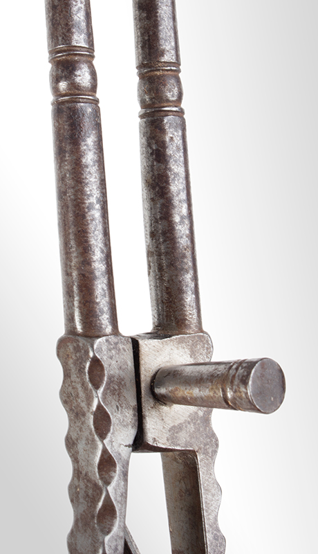 18th Century Pipe Tongs – Ember Tongs with Tamper, File Work, detail view 3