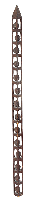 Folk Carving, Whimsey Tower, 14 Puzzle Balls, Only 5/8 Inches Square Height: 14-inches, Delicate, entire view