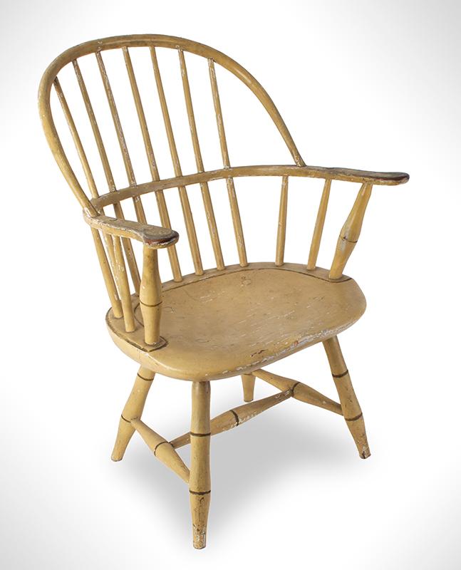 Children's Windsor Armchair, Sack-Back, Possibly Boston or Salem Massachusetts, entire view 1