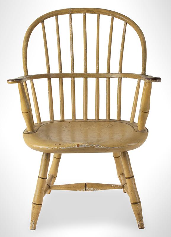 Children's Windsor Armchair, Sack-Back, Possibly Boston or Salem Massachusetts, entire view 2