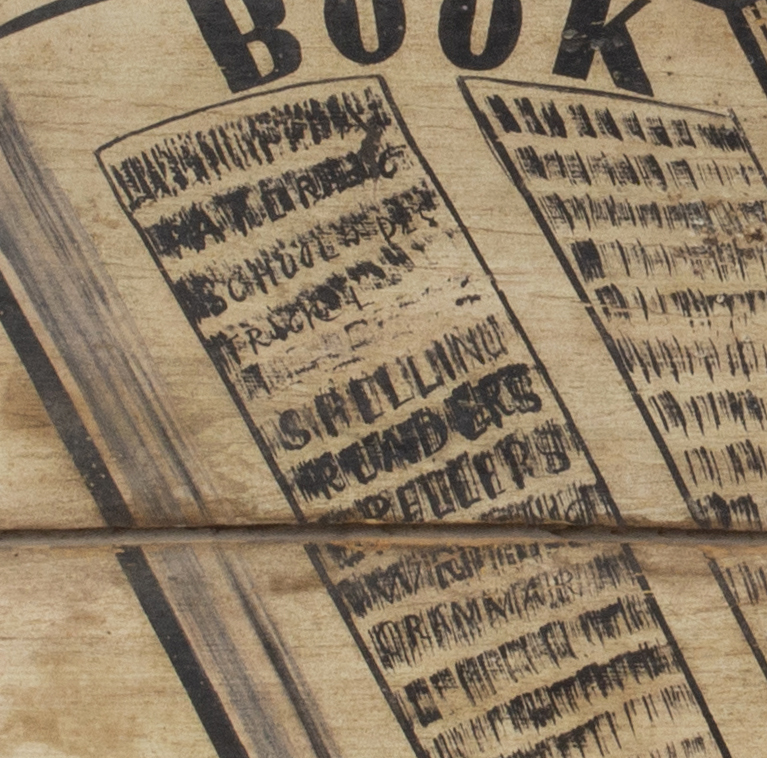 Antique Wagon Seat Trade Sign, EMPIRE BOOK STORE Possibly New York, detail view 3