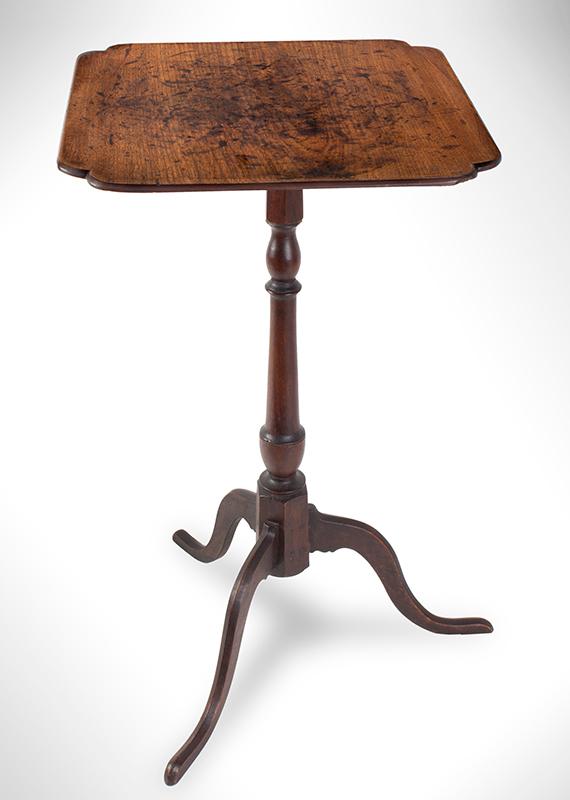 Antique Candlestand, Samuel Dunlap, New Hampshire, Circa 1800-1810 Salisbury, New Hampshire, entire view
