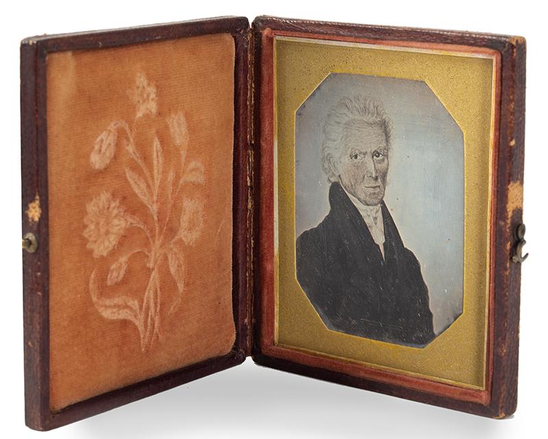Daguerreotype, Photograph of Andrew Jackson Portrait, Sixth Plate, entire view 2