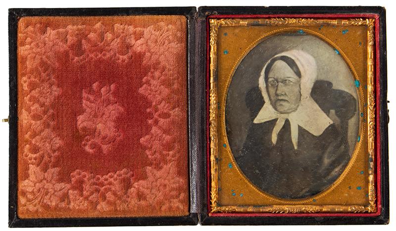 Daguerreotype, Photograph of Folk Portrait, Woman Seated in Boston Rocker, entire view 2