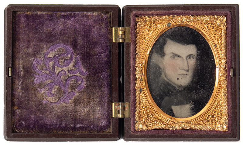 Ambrotype, Photograph of Folk Portrait, Gentleman, Littlefield & Parsons Case, entire view 2