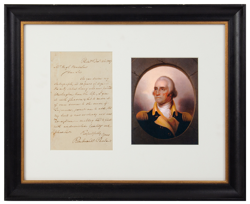 Rembrandt Peale (1778-1860), Letter Signed, One Page, Philadelphia, Dec. 26, 1857, entire view