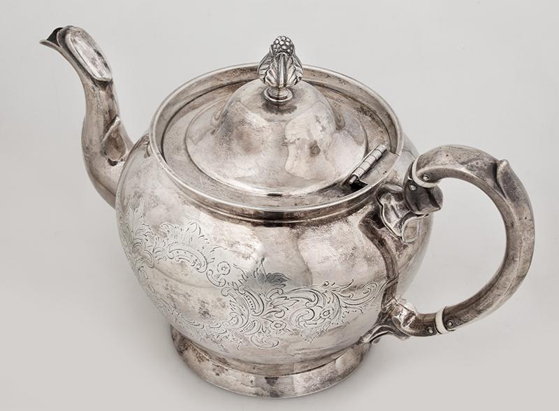 Historic Maritime Presentation Silver, Coffeepot, Sugar Bowl, Milk Pitcher, entire view 5