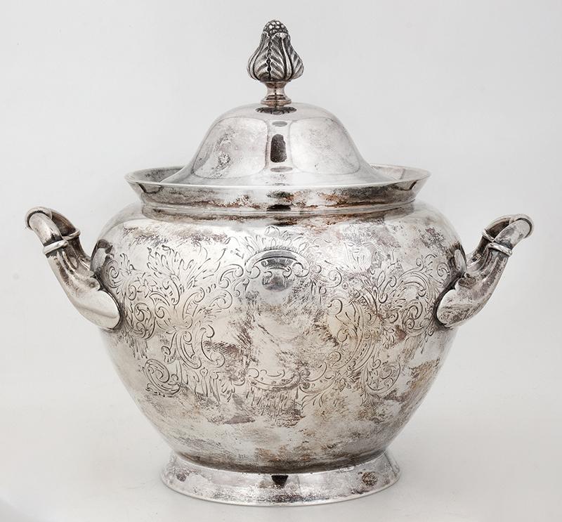 Historic Maritime Presentation Silver, Coffeepot, Sugar Bowl, Milk Pitcher, entire view 6