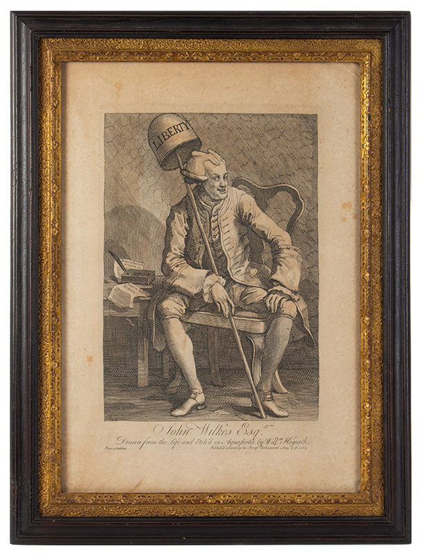John Wilkes, Esq., Etching and Engraving, First State of Two, entire view