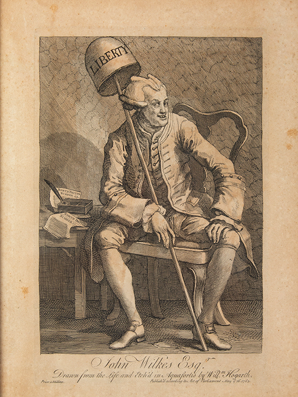 John Wilkes, Esq., Etching and Engraving, First State of Two, entire view sans frame