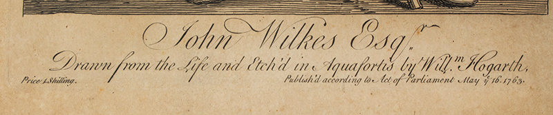 John Wilkes, Esq., Etching and Engraving, First State of Two, detail view