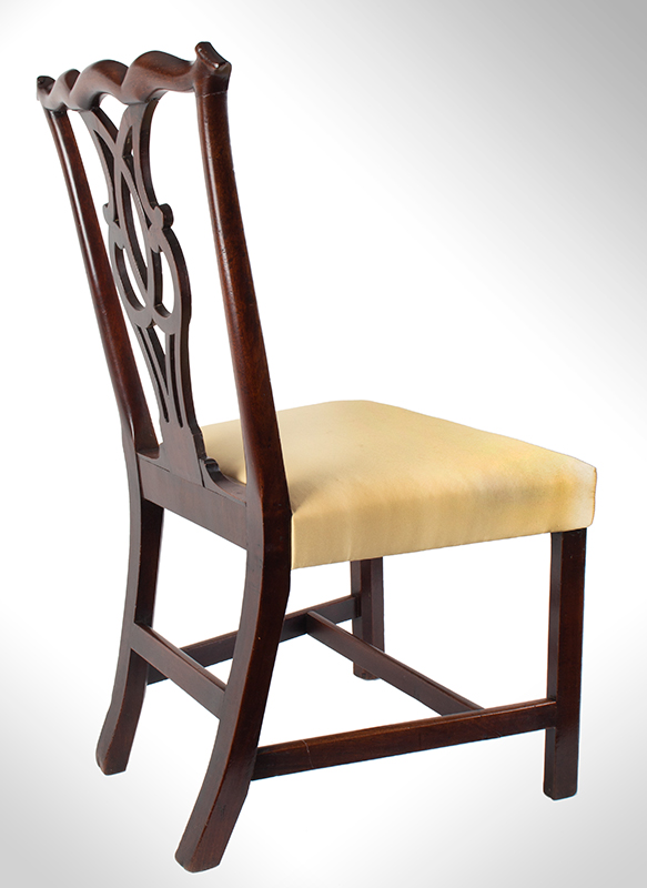 Chippendale Side Chairs, Matched Set of Six, Carved Crest, Pierced Splat Likely English, George III, entire view 3
