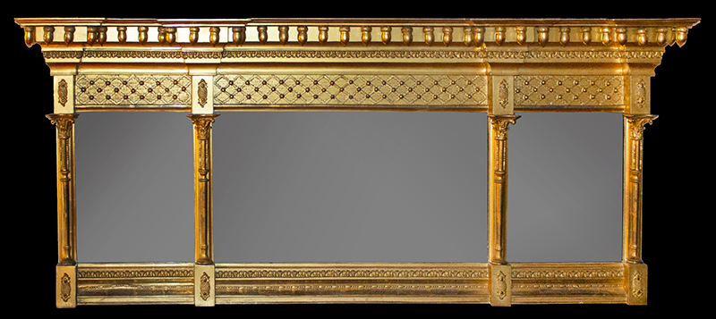 Federal Giltwood Overmantel Mirror America, Possibly New York State, entire view