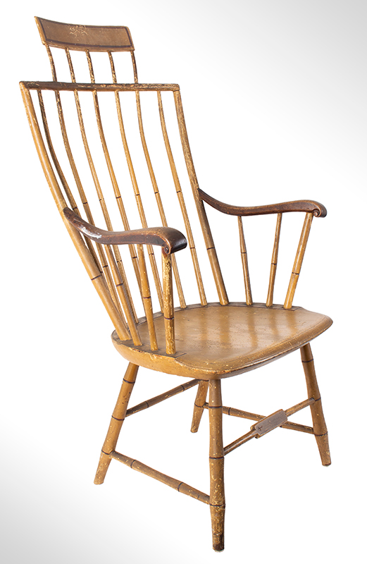 Samuel Gragg Windsor Comb Back Armchair, Underside of Seat Branded – Gragg – Boston, entire view 1