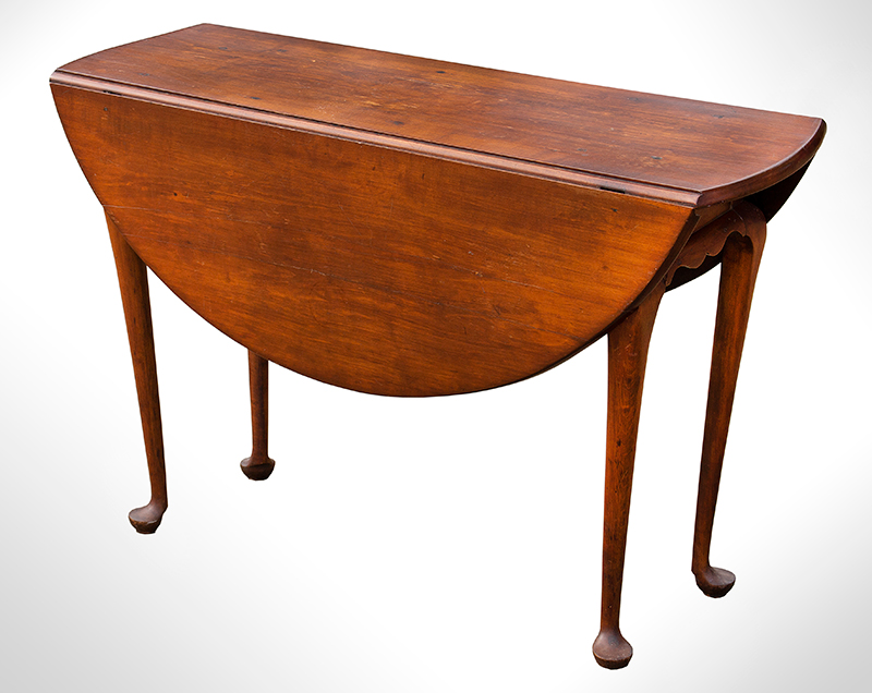 Small Queen Anne Drop Leaf Table, Northshore Massachusetts, entire view 1